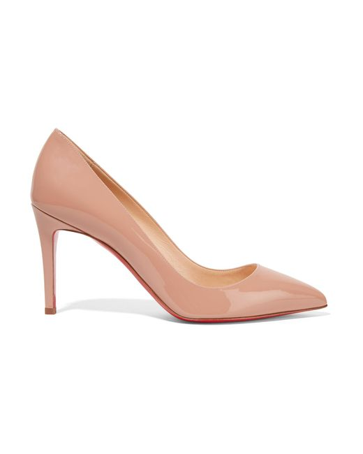 Christian Louboutin | Natural Pigalle Patent-leather Pumps | Lyst