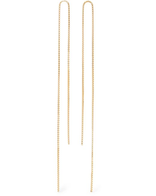 Saskia Diez - Metallic Fringe 18-karat Gold-plated Earrings - Lyst