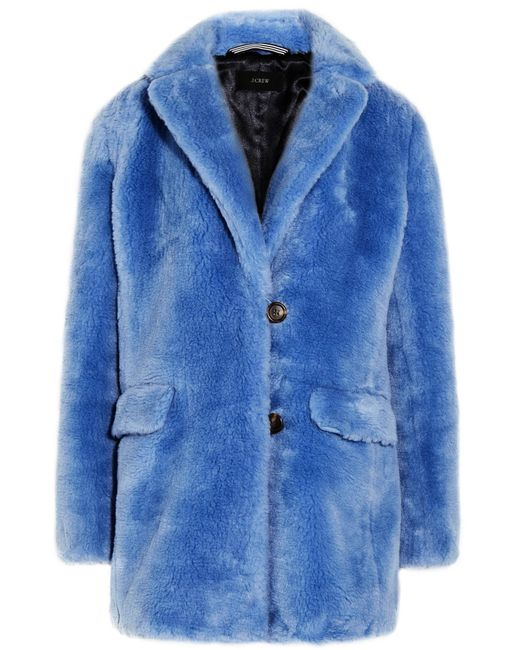 J.Crew - Blue Yuna Faux Fur Coat - Lyst