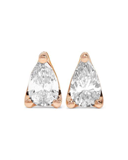Anita Ko - Metallic 18-karat Rose Gold Diamond Earrings - Lyst