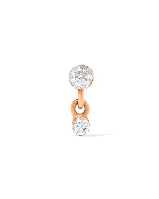 Maria Tash   Metallic 18-karat Rose Gold Diamond Earring   Lyst
