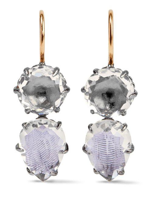 Larkspur & Hawk | Metallic Caterina Rhodium-dipped Quartz Earrings | Lyst