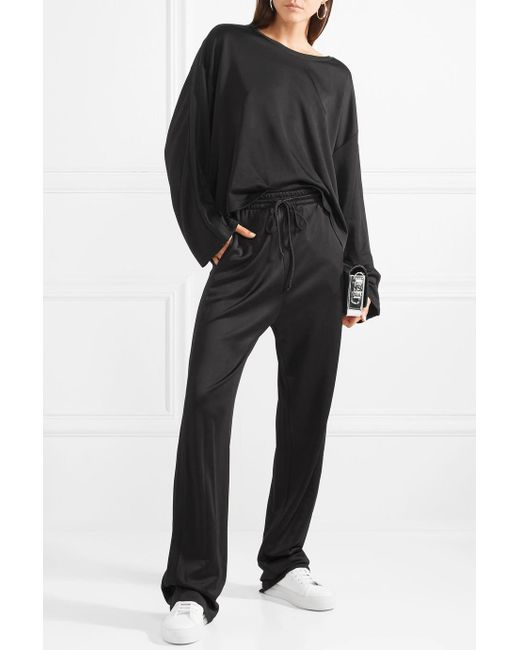 Stretch-jersey Track Pants - Black Maison Martin Margiela