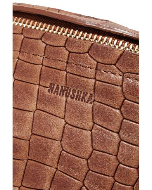 Lubo Croc-effect Leather Belt Bag - Brown Nanushka VvaGp51A