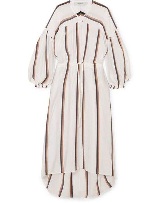 6cf25832378f Munthe - White Dance Striped Voile Midi Dress - Lyst ...