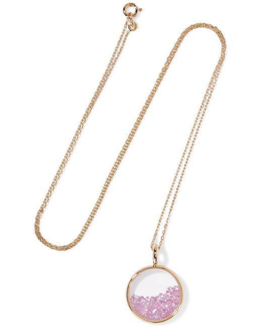 Aurelie Bidermann - Metallic Baby Chivor 18-karat Gold Sapphire Necklace - Lyst