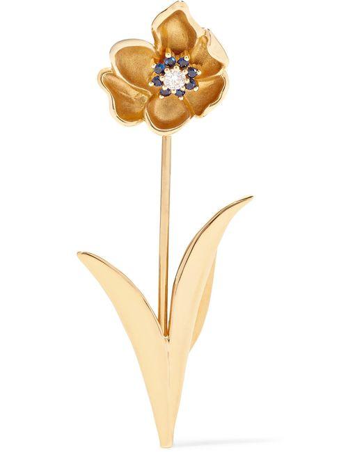 Yvonne Léon | Metallic 18-karat Gold, Diamond And Sapphire Earring | Lyst