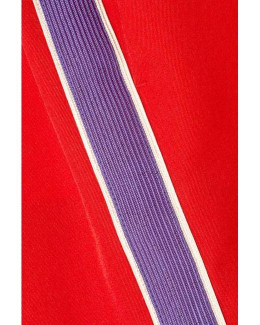cde3abcb06 ... CALVIN KLEIN 205W39NYC - Red Striped Wool-twill Mini Skirt - Lyst