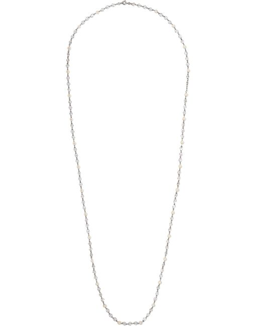 Fred Leighton | Metallic Collection Platinum Pearl Necklace | Lyst