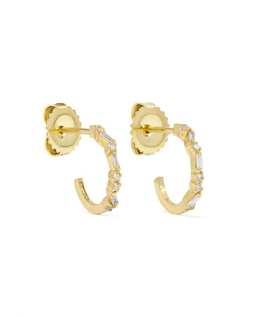 Suzanne Kalan - Metallic 18-karat Gold Diamond Hoops Earrings - Lyst