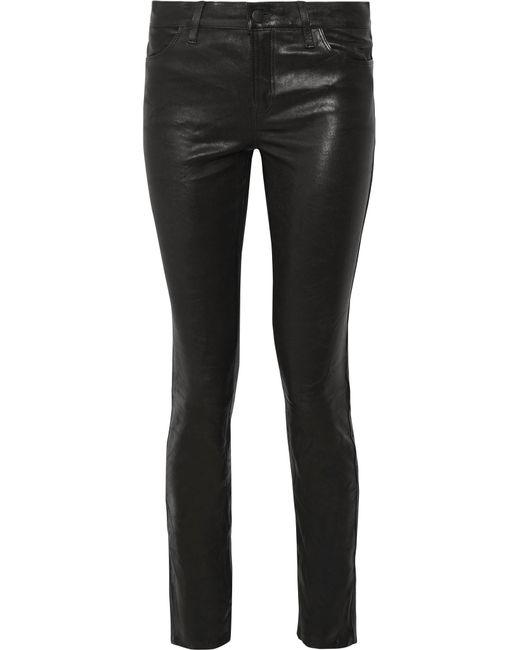 J Brand | Black Maude Leather Skinny Pants | Lyst
