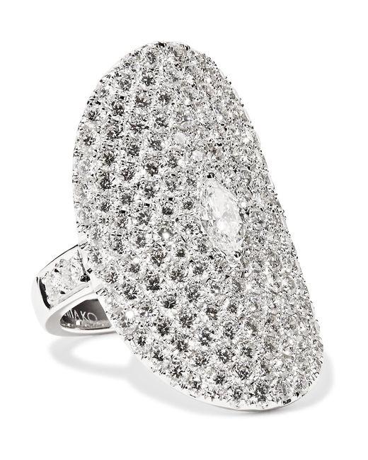 Anita Ko | Multicolor Saddle 18-karat White Gold Diamond Ring | Lyst