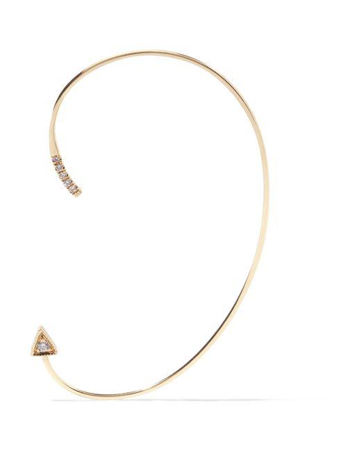 Jennie Kwon | Metallic Mini Dagger 14-karat Gold Diamond Ear Cuff | Lyst