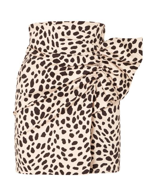 Silvia Tcherassi - Multicolor Willow Gathered Leopard-print Stretch-cotton Mini Skirt - Lyst