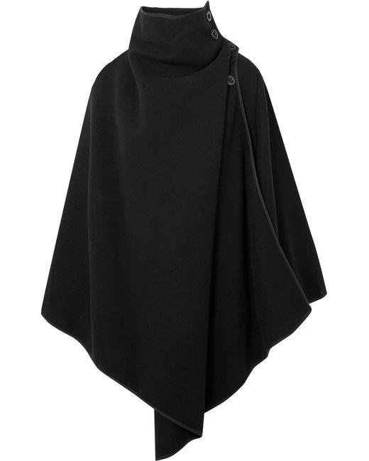 Chloé | Black Oversized Wool-blend Cape | Lyst
