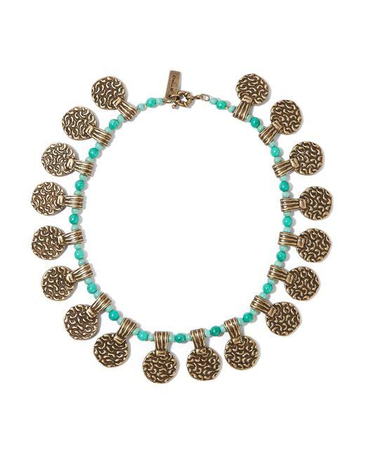 Etro - Metallic Gold-tone Beaded Necklace - Lyst