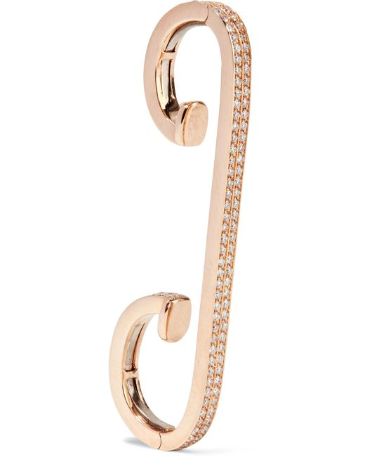 Repossi | Multicolor Staple 18-karat Rose Gold Diamond Ear Cuff | Lyst