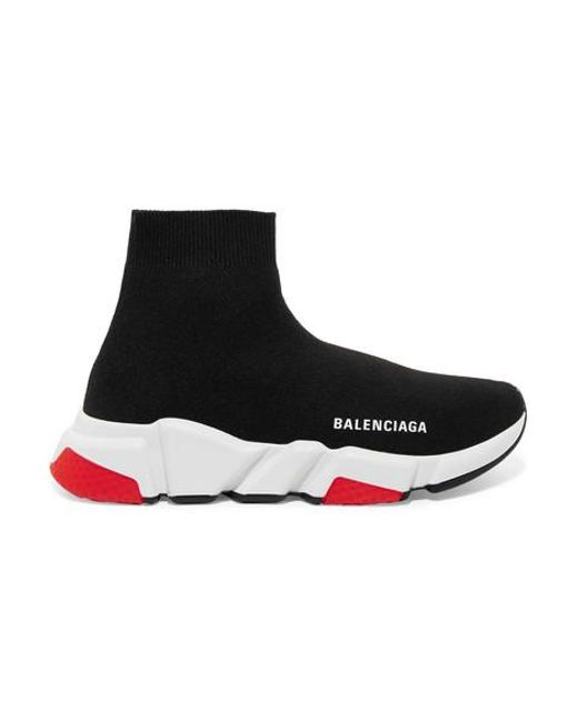 Balenciaga - Black Speed Stretch-knit High-top Sneakers - Lyst