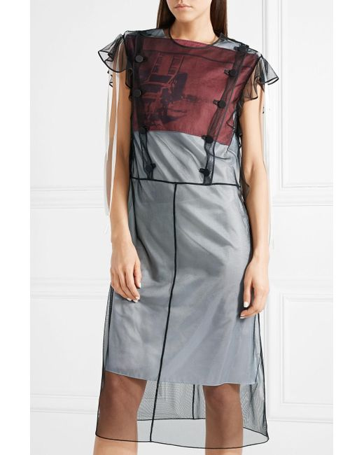 X Andy Warhol Foundation Layered Tulle and Satin Dress - Black CALVIN KLEIN 205W39NYC Sale Cost Many Kinds Of Online 3uT8eu9y9