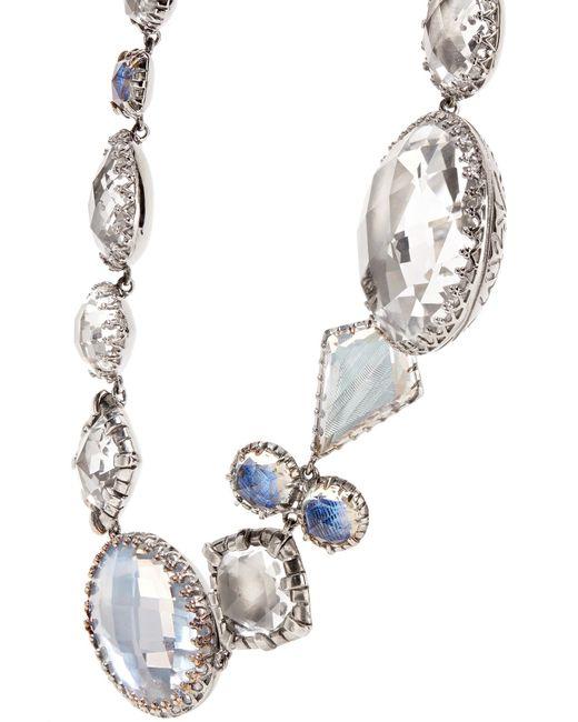 Larkspur & Hawk Sadie Rivière Rhodium-dipped Quartz Necklace - Silver cAOcA