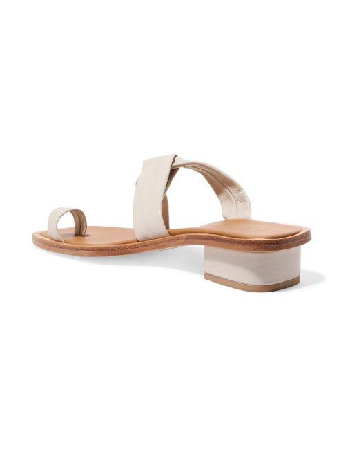 Clearance Deals Pau Leather Sandals - White LOQ Outlet Wiki k8CMk