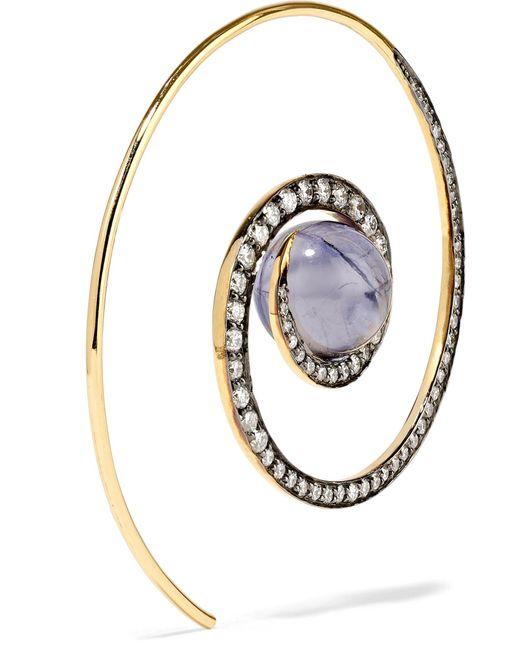Noor Fares Spiral Moon earrings - Metallic lAXupD