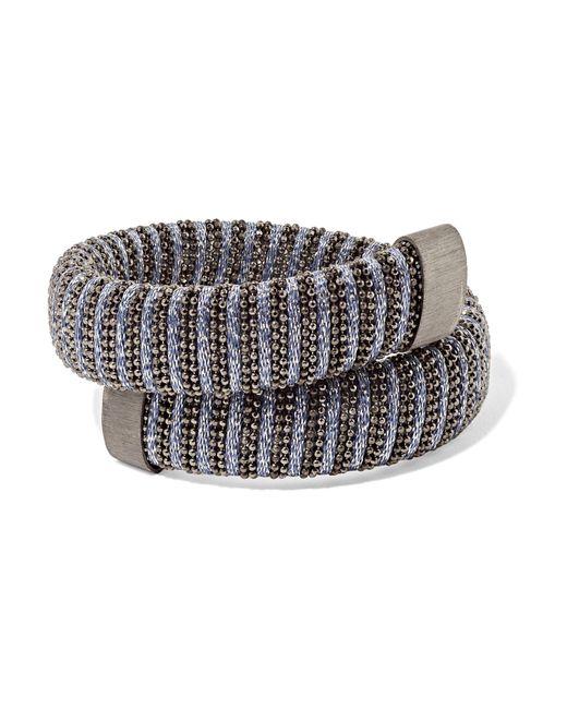 Carolina Bucci - Metallic Caro Blackened Sterling Silver And Lurex Bracelet - Lyst