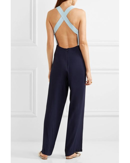 Ross Two-tone Crepe Jumpsuit - Light blue Staud Outlet Countdown Package Shop Offer Online Real For Sale Quality From China Wholesale QDLL9SJAPS