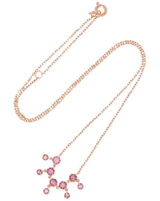 Pascale Monvoisin | Metallic Lara 9-karat Rose Gold Tourmaline Necklace | Lyst