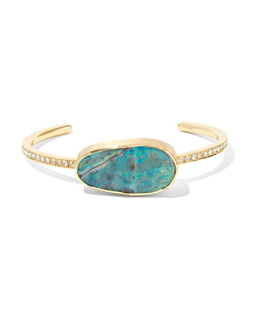 Brooke Gregson - Metallic 18-karat Gold, Opal And Diamond Cuff Gold One Size - Lyst