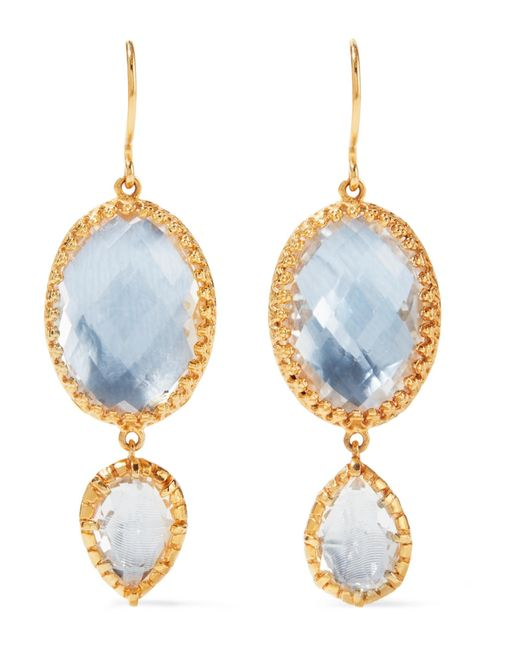 Larkspur & Hawk - Metallic Sadie Gold-dipped Quartz Earrings - Lyst