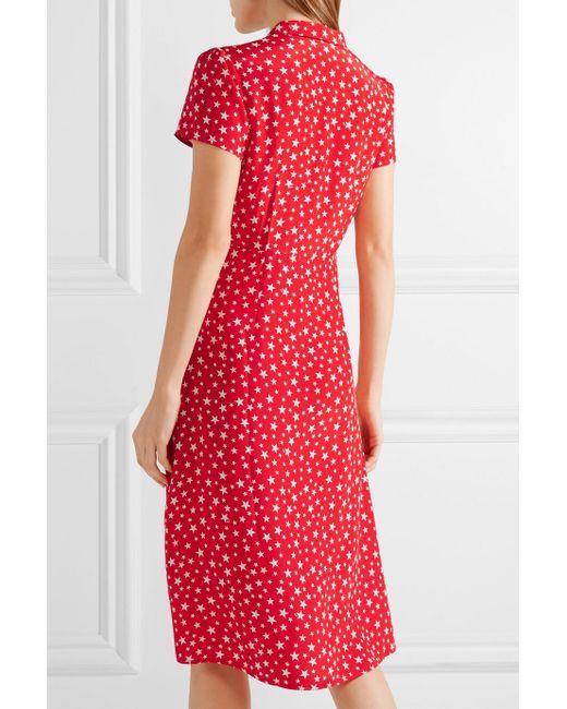 Morgan Printed Silk Crepe De Chine Dress - Red HVN fKCh8Edr