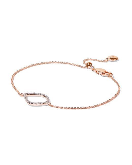 Monica Vinader - Metallic Riva Kite Rose Gold Vermeil Diamond Bracelet - Lyst