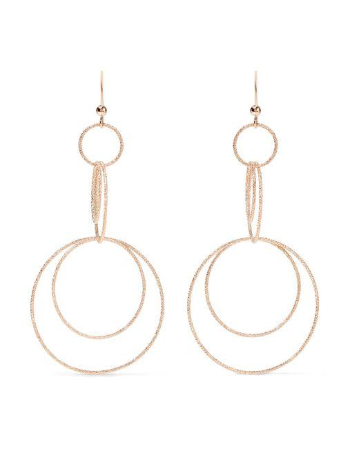 Carolina Bucci   Metallic Florentine 18-karat Rose Gold Earrings   Lyst