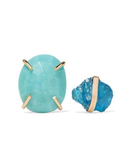 Melissa Joy Manning - Blue 14-karat Gold, Apatite And Turquoise Earrings - Lyst