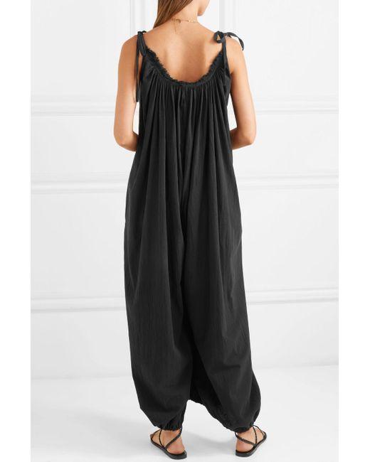 Cheap Sale Websites Discount How Much Yetzi Cotton-gauze Jumpsuit - Black Caravana 0ZJrE