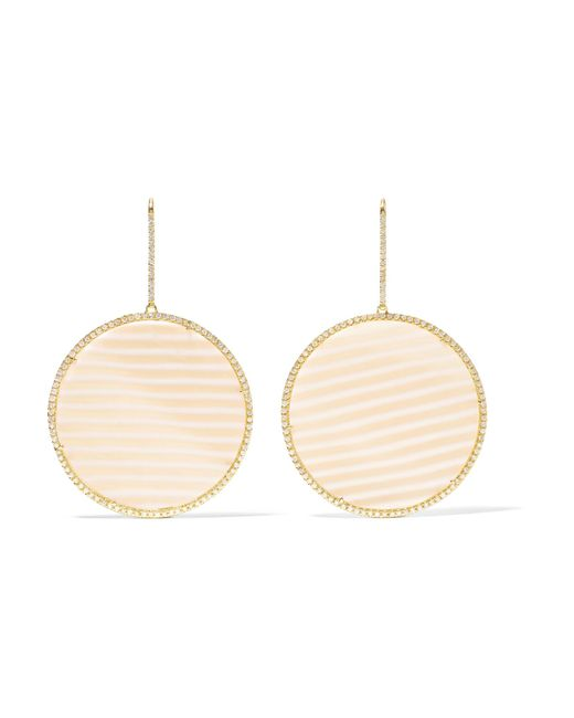 Kimberly Mcdonald - Metallic 18-karat Gold, Chalcedony And Diamond Earrings Gold One Size - Lyst