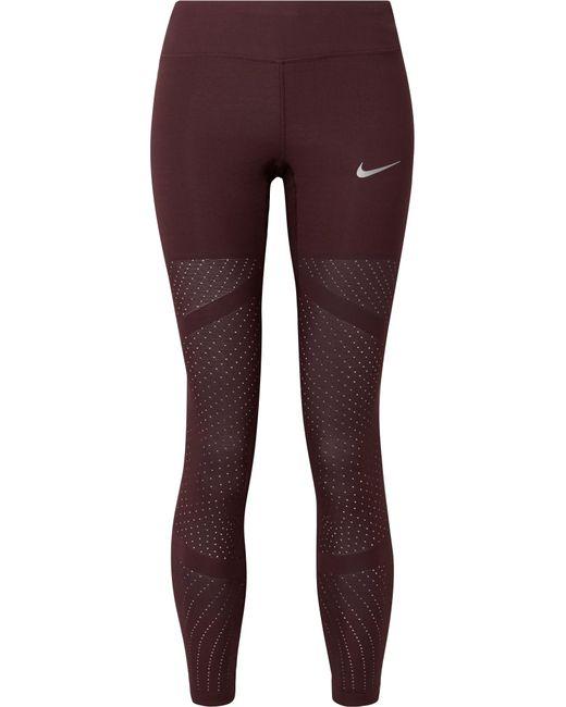 Nike - Multicolor Epic Lux Athena Mesh-paneled Stretch Leggings - Lyst