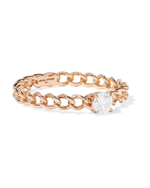 Jemma Wynne - Metallic 18-karat Rose Gold Diamond Ring Rose Gold 7 - Lyst