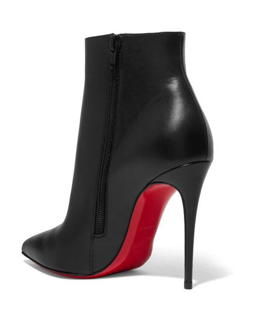 So Kate 110 Leather Ankle Boots - Black Christian Louboutin bSDXh