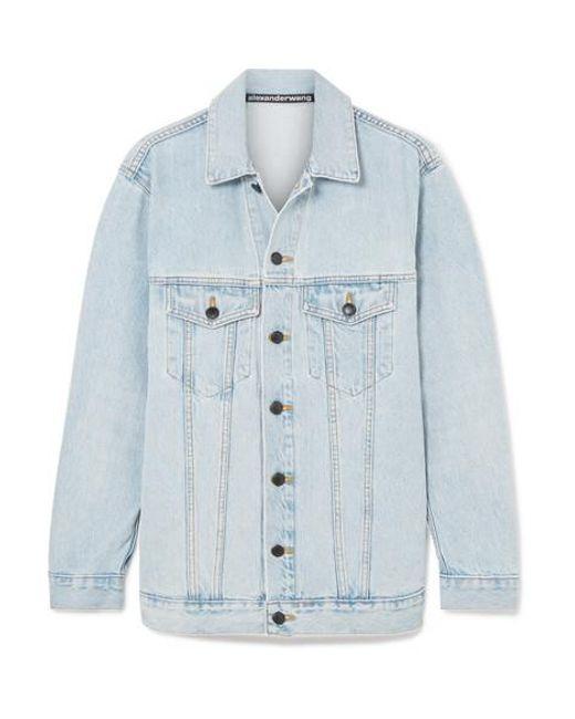 Alexander Wang - Blue Daze Oversized Denim Jacket - Lyst