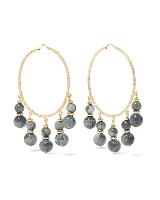 Carolina Bucci | Metallic Recharmed 18-karat Gold Agate Hoop Earrings | Lyst