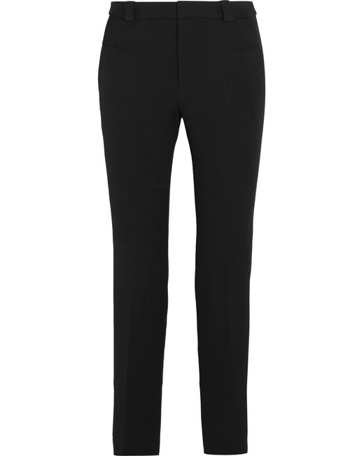 Willow Lurex-trimmed Stretch-crepe Flared Pants - Black Roland Mouret Really Cheap Shoes Online 9eaRMukLq