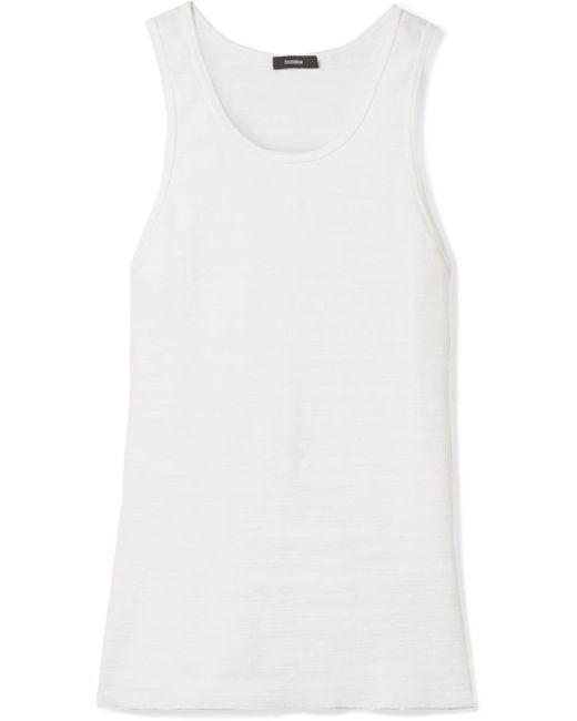 Slub Cotton Jersey Tank - White Bassike 2018 Newest Cheap Online 24OPChql