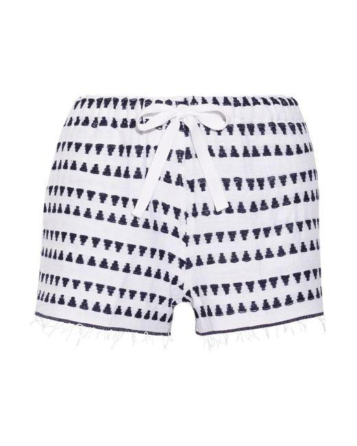 Lemlem | Blue Yeshi Cotton-blend Gauze Shorts | Lyst
