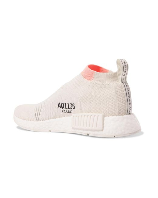 daa80b341 ... Adidas Originals - White Nmd cs1 Rubber-trimmed Primeknit Sneakers -  Lyst ...