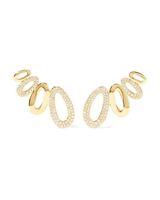 Ippolita - Metallic Cherish 18-karat Gold Diamond Earrings - Lyst