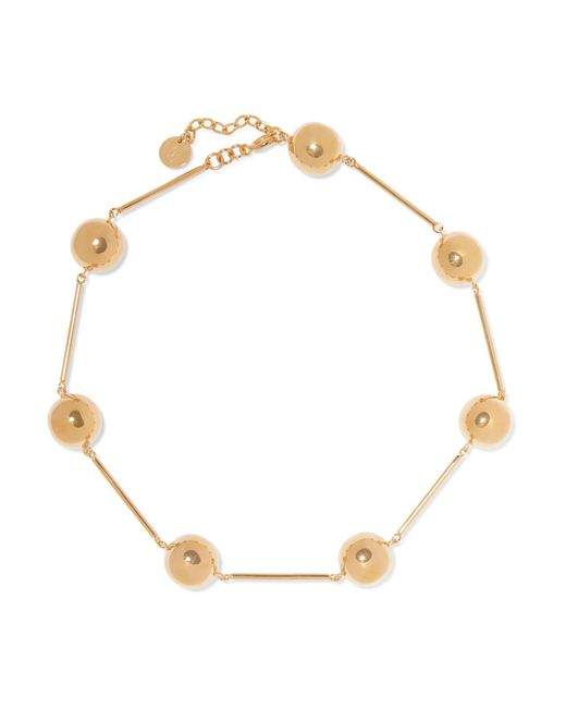 J.W. Anderson - Metallic Gold-plated Necklace - Lyst