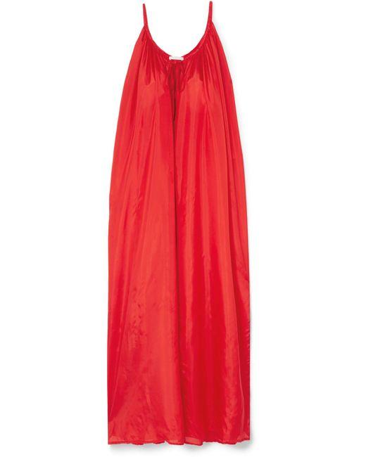 Kalita - Red Mercury Silk-habotai Maxi Dress - Lyst