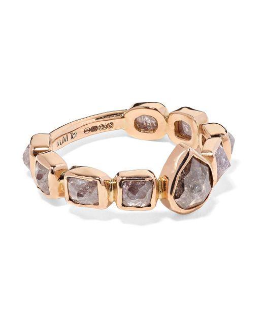 Melissa Joy Manning - Metallic 18-karat Rose Gold Diamond Ring - Lyst